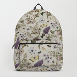 spring flowers with butterfly and beetles II Backpack