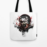 metal gear solid Tote Bags featuring Metal Gear Solid V: The Phantom Pain by ururuty