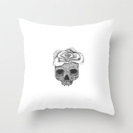 Death Rose Throw Pillow