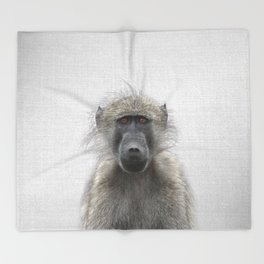 Baboon - Colorful Throw Blanket
