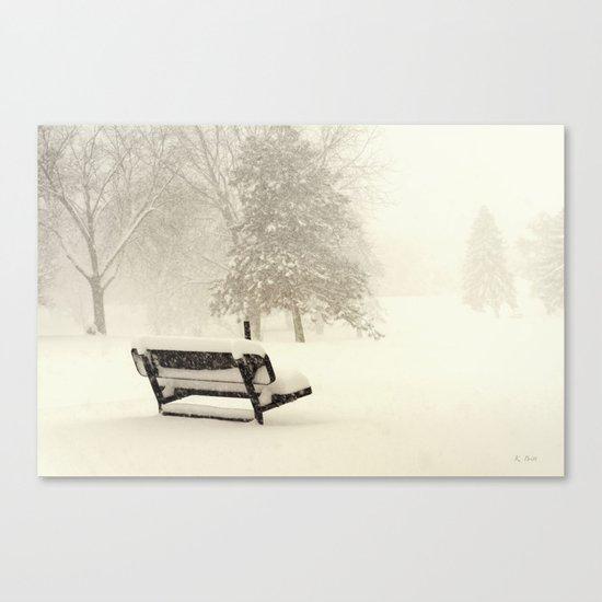Snowy Seat Canvas Print