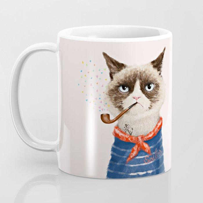 Sailor Cat V Coffee Mug