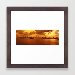 Fire Framed Art Print
