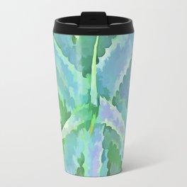 Pop Art Grey Green Aloe Travel Mug