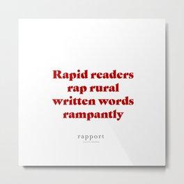 RAPID READERS Metal Print