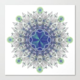 Peacock Star Canvas Print
