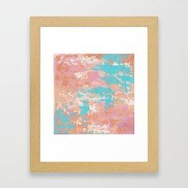 Turquoise Stream Framed Art Print