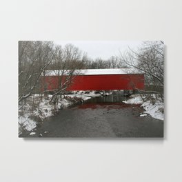 Mood's Covered Bridge Metal Print