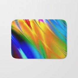 Digital art fractal colors Bath Mat