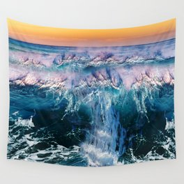 Twilight at the Beach Wall Tapestry