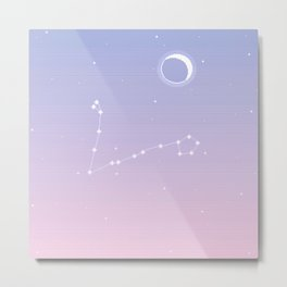 Pisces Constellation Metal Print
