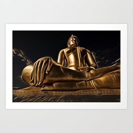 Thailand Great Buddha Artistic Illustration Energy Style Art Print