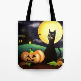 The black cat Tote Bag