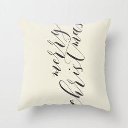 Merry Christmas Typo  #society6 #decor #buyart Throw Pillow
