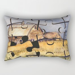 Barn Puzzle Rectangular Pillow