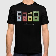 Arcade Machines Black Mens Fitted Tee LARGE