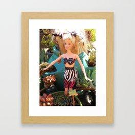 Jungle Barbie Framed Art Print