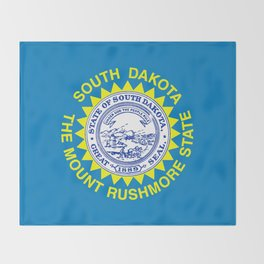 Flag of South Dakota Throw Blanket