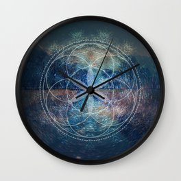 Sacred Geometry Universe X Wall Clock