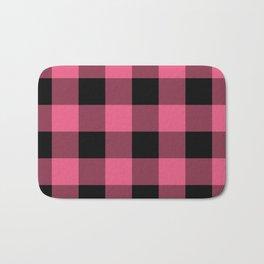 Pink & Black Buffalo Plaid Bath Mat