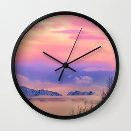 Alaskan Winter Fog Digital Painting Wall Clock