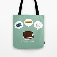 wallet Tote Bags featuring Wallet by Corrie Liotta