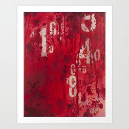 Numeric Values: Slash the Budget Art Print
