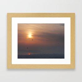 soft sky Framed Art Print