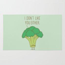 Broccoli don't like you either Rug
