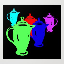 Favoriteware Coffeepot Art Print