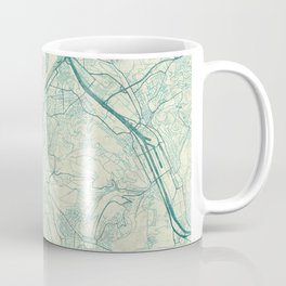 Stuttgart Map Blue Vintage Coffee Mug