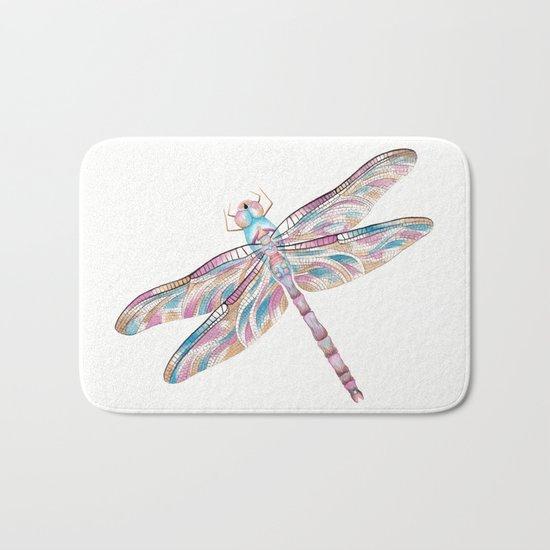 Watercolour Dragonfly Bath Mat