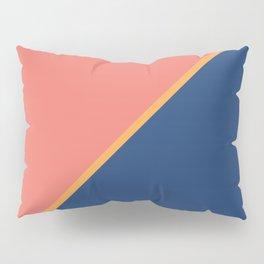 Pink & Rare Purple - 2 color oblique Pillow Sham