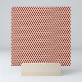 colorful isometric vintage cubes Mini Art Print