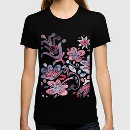 Redblue flowers T-shirt