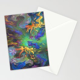 Hestia & The Mermaid PILLOW/SHOWER CURTAIN #A Stationery Cards
