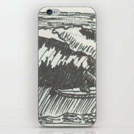 Barrelled in Black & White iPhone Skin