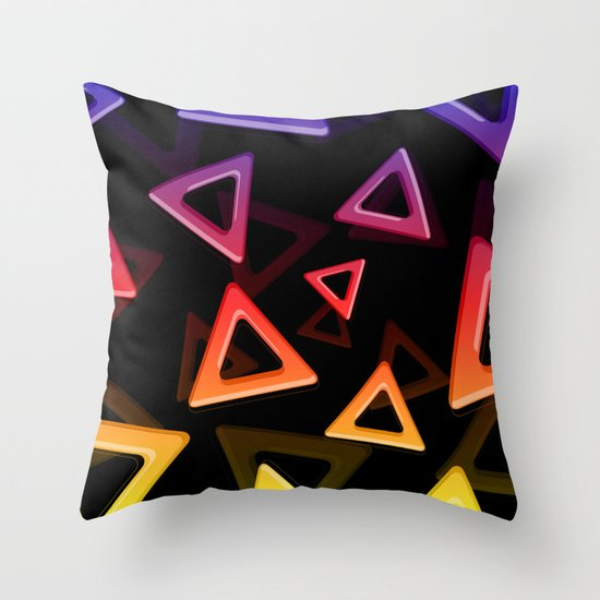80's Triangles Throw Pillow