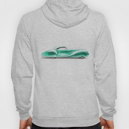 Vintage 1934 teal green Packard Eight 2/4-Passenger Coupe Hoody