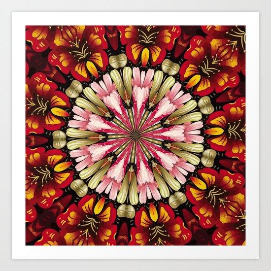 Botanical Dreams Mandala Art Print
