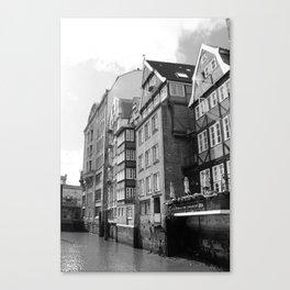 Nikolaifleet Hamburg Canvas Print