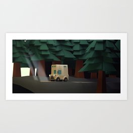 get out of the dark Art Print