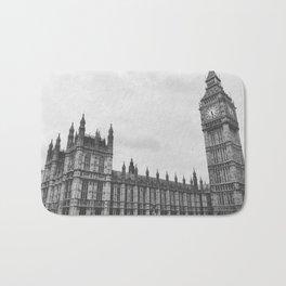 Big Ben in Black and White - London Bath Mat