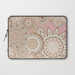 Boho Light Pink Mandalas Laptop Sleeve