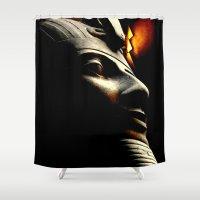 egyptian Shower Curtains featuring Egyptian Mystery by Sandy Edgar