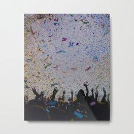 Confetti Rainfall Metal Print