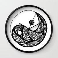 yin yang Wall Clocks featuring Yin Yang by Bearskin