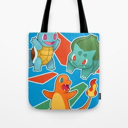 Kanto Starter Poster Tote Bag