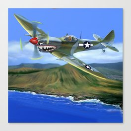 Spitfire Soars Over Hawaii Canvas Print