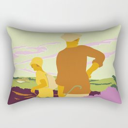 Yorkshire Moors hiking Rectangular Pillow